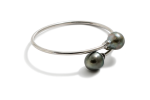 Bangle 925/rp M-Size with Tahitian Cultured Pearl 12-14mm natural color