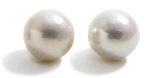 Cultured Edison Pearls 15-16mm near round white AAAA quality half drilled